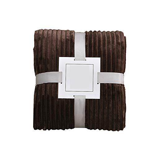 Cobijas de Invierno Grandes, Morbuy Lana de Coral Bedding Manta de Felpa Suave Aire Acondicionado de Oficina Mantas de Sofá Cama para Bolsa de Dormer (70x100cm,marrón)