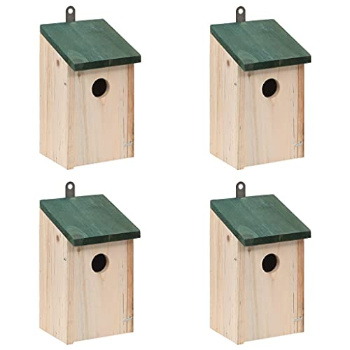 vidaXL 4x Holz Vogelfutterhaus Futterhaus Vogelhaus Vögel Nisthaus Nistkasten