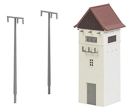 Faller FA 120241 - Trafohäuschen mit Strommasten, Zubehör für die Modelleisenbahn, Modellbau