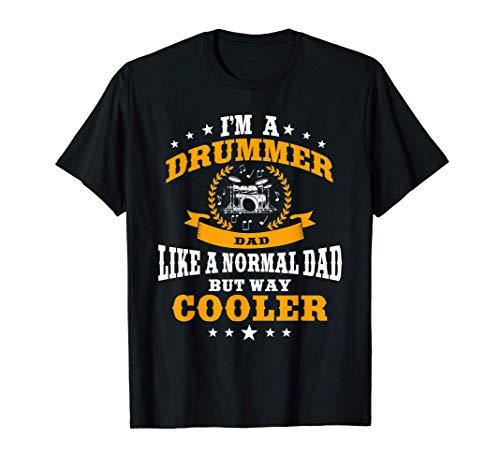 Hombre Gran Baterista Papá Diciendo Tambores De Regalo Camiseta