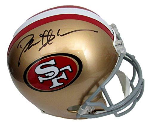 Deion Sanders HOF Signed/Auto 49ers Full Size Replica Helmet Beckett 156947 - Autographed NFL Helmets