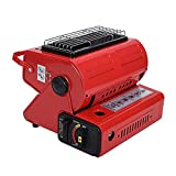 Luoji Calefactor portátil para exterior – Radiador radiante portátil para campamento, senderismo, viajes, pícnics, calefactor silencioso de bajo consumo para interior y exterior