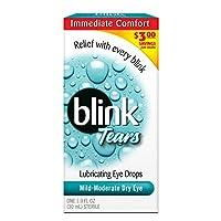海外直送肘 Blink Lubricating Eye Drops For Mild Moderate Dry Eye, 1 oz
