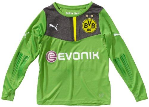 PUMA Kinder Trikot BVB GK Shirt, Classic Green-Dark Gray Heather, 176