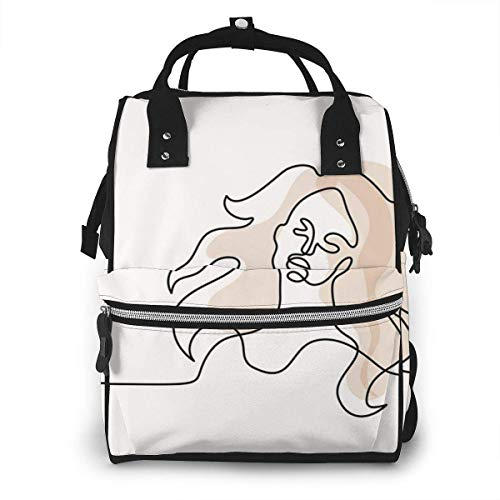 NHJYU Sac à langer, Large Capacity Waterproof Travel Ma-na-ger,baby Care Replacement Bag Versatile Stylish And Durable, Suitable For Mom And Dad,Abstract Woman Art Painting