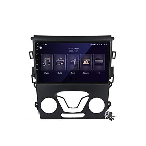 Gokiu Android 10 Autoradio 2 DIN con Schermo per Ford Mondeo 5 2014-2019 Supporta SWC WiFi 4G 5G Bluetooth/RDS FM AM Radio/GPS Navigazione/Built-in Carplay Android Auto DSP,M150