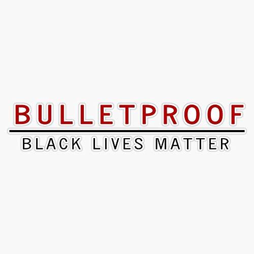 Magnet Bulletproof Black Lives Matter Sticker Vinyl Magnet Bumper Sticker Refrigerator Magnet Flexible Reuseable Magnetic Vinyl 5'