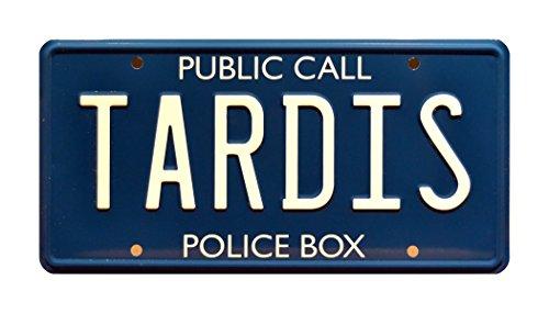 Celebrity Machines TARDIS | Metal Stamped Vanity License Plate
