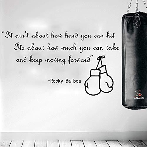 CDNY Rocky Balboa Berühmte Boxing Quote Movie Wandaufkleber Kinderzimmer Schlafzimmer Boxen Sport Inspirational Quote Wandtattoo Boy Room Vinyl 85 cm breit x 47 cm hoch
