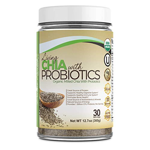 Dr.Colbert's USDA Organic Milled Living Chia Seeds Plus Probiotics - 30 Day Supply - 1 Billion CFU