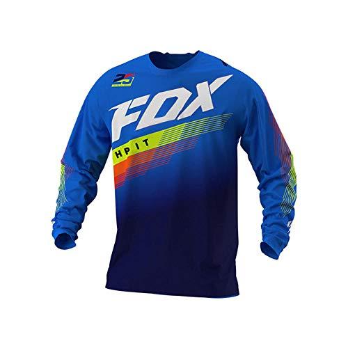 Yutich Jersey DH Jersey deMotocross Off Road Mountain Bike Cuesta Abajo Jersey MX BMX Jersey de Ciclismo hpit Fox Jersey fxr MTB Racing-XXL