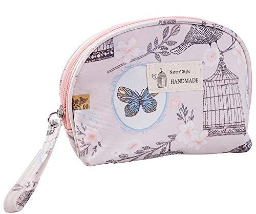 Half Round Voyage Sac cosmétiques Maquillage Portable Pouch Organisateur pour les filles de femmes, 1 pièce (ROSE)