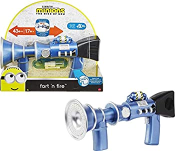 Minions  Fart  n Fire Super-Size Blaster with 20 Plus Fart Sounds and Realistic Far Mist Makes a Great Gift for Kids Ages 4 Years and Older