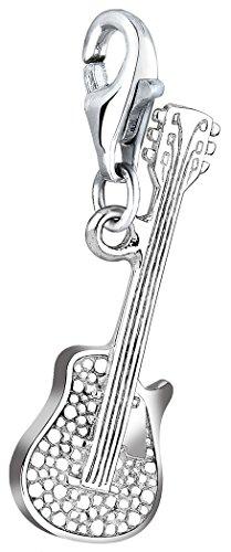 Nenalina Charm Gitarre Anhänger in 925 Sterling Silber für alle gängigen Charmträger 713049-000