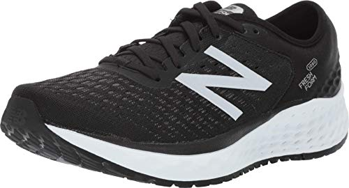 New Balance Men's Fresh Foam 1080 V9 Running Shoe, Black/White, 11.5 M US