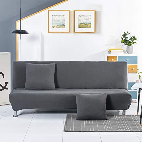 Klappsofa Bezug Stretch Sofabezug ohne Armlehnen,Einfarbiger Schlafsofa Sofahusse Stretch Sofa-Überwürfe Antirutsch Sofa Abdeckung Schonbezug Stretchhusse All-Inclusive Couch überzug E 160-190CM