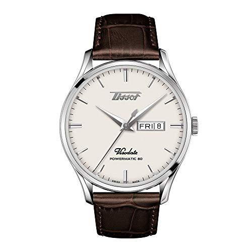 Tissot mens Viso Date 316L stainless steel case Specialities Brown T1184301627100