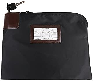 Eagle Locking Security Money Bag, Cash Bag, 10.82 X 8.2 X 1.38-Inch, Black