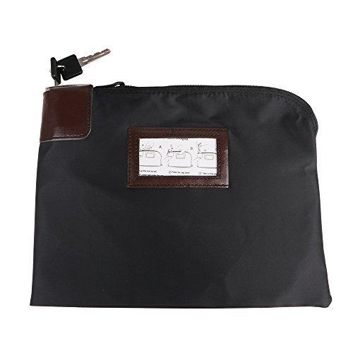 Eagle Locking Security Money Cash Register Bag Bank Deposit Bag With Locks 10.82 X 8.2 X 1.38-Inch, Black