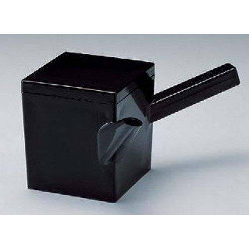 そば・うどん 新(大)角ゆとう黒(重厚型)(700cc) [10.4 x 10.4 x 11.6cm] ABS樹脂 (7-533-14) 料亭 旅館 和食器 飲食店 業務用