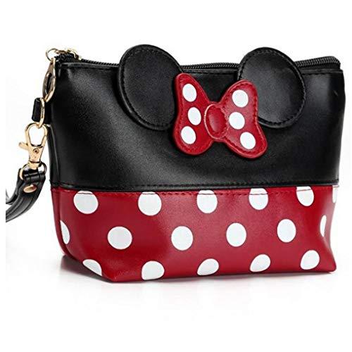 Minnie Mouse Ears Style Tupfen Kosmetiktasche - Multifunktions-Spielraum-Verfassungs-Handtasche Mit Reißverschluss