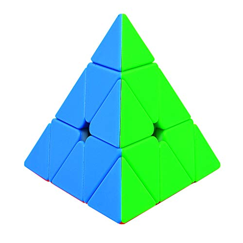 Pyraminx Stickerless ,Speed Cube 3x3 Magic Cube Triangle Pyramid Puzzle Twist Travel Toys for Gift