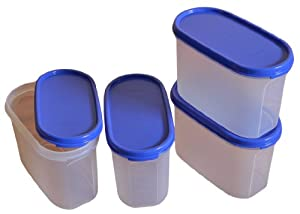 Tupperware Modular Mates Oval 2 Container Set, 1.1 Litres, 4-Pieces from Tupperware India Pvt Ltd