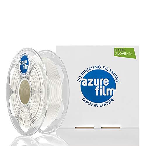 AZUREFILM 3D Filamento PLA per stampa 3D professionale 1,75 mm - Accessori di stampa 3D indispensabili - Precisione dimensionale elevata +/- 0,02 mm, Bobina 1 kg, Bianco Seta - Senza bolle