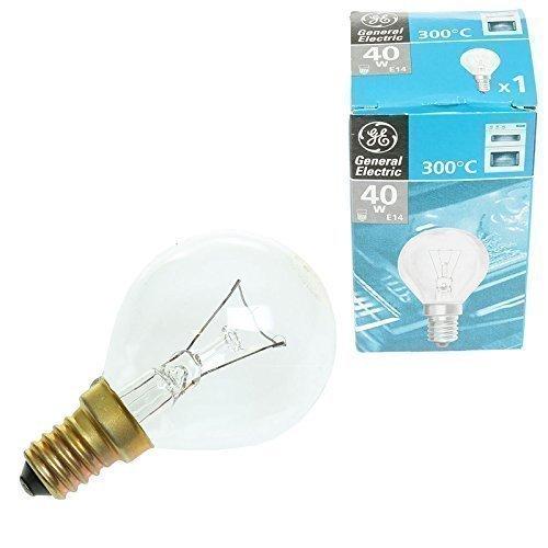 Ampoule universelle et de longue durée pour Four et Cuisinière E14 40W 300 degrés compatible avec cuisinières Neff Bosch Siemens Hotpoint AEG