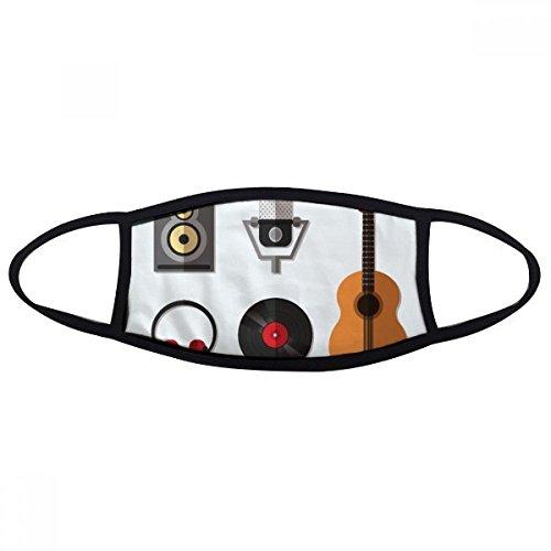 DIYthinker Gitaar Headset CD Microfoon Muziek Patroon Mond Gezicht Anti-stof Masker Anti Koud Warm Wasbaar Katoen Gift
