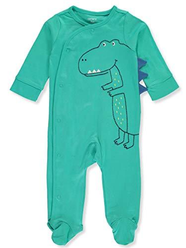 Macacão Carter's para bebês meninos 1 peça de algodão com pés, Green Trex, recem nascido