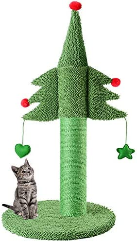 BOLUO Cat Scratching Post Tall Toy Ceder Cat Trees for Adult Large Cats Scratcher Cute Kitten product image