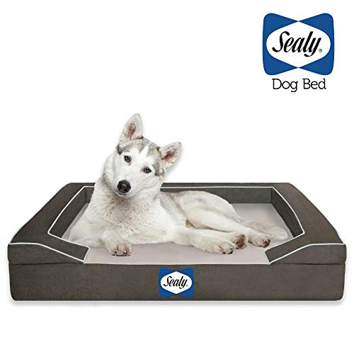 Sealy Dog Bed with Quad Layer Technology, Large,...