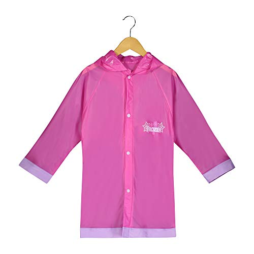 Disney Frozen Girls Pink Rain Slicker Size Medium 4/5