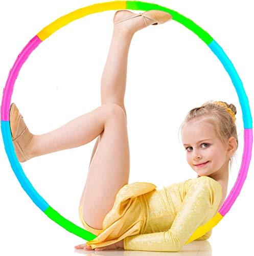 zzyysd Anillo de ejercicio de fitness para niños desmontable y ajustable, tamaño de juguete de regalo, colorido anillo de ejercicio de gimnasia adecuado para la pérdida de peso