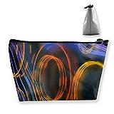 Bolsa de Almacenamiento Trapezoidal Personalizada con Vector mecánico Azul púrpura Naranja Impermeable para Llevar Viajes