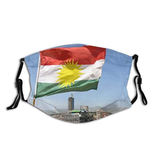 NIET Gezichtsmasker Verstelbare Oorlussen Ademend Herbruikbare Outdoor Mond Cover Stofmasker voor Volwassenen Kids Kurdistan Kurd Kurds Koerdische Vlag Poster