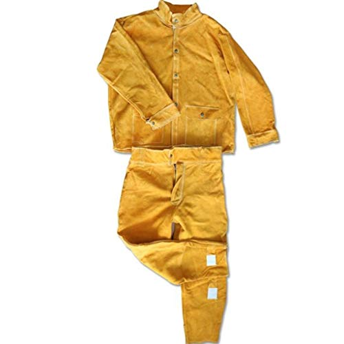 CYHX Overall Beschermende Veiligheid Werk Lassen Werkkleding Arbeidsverzekering Lassen Beschermende Kleding Lederen Lasser Kleding