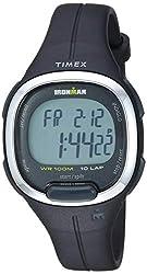 in budget affordable Timex TW5M19600 Ironman Transit Medium Ladies Watch Black / Silver Resin
