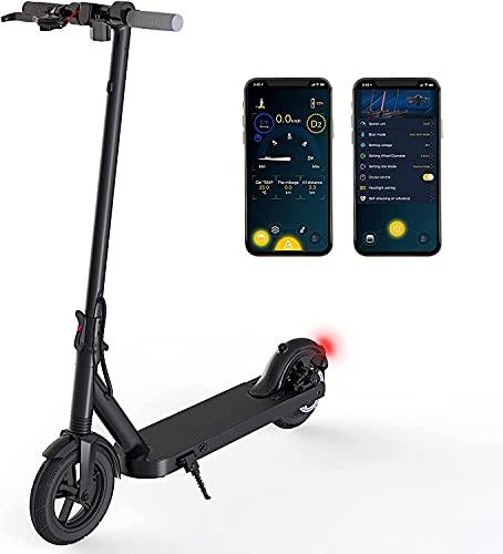 Electric Scooter Adult mit 350W Motor - E-Scooter 32km/h Schnelles Elektrofahrrad mit Bluetooth App Steuerung, 3 Geschwindigkeit LED Scheinwerfer Scooter Elektro für Erwachsene Kinder Teens