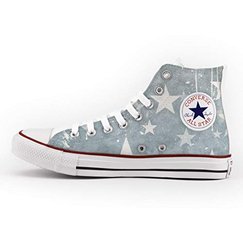 21 Shoes Schuhe Personalisierte und gedruckte - Custom Modell - Sneakers Customized - Stampa Faded Stars