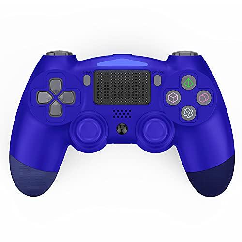 Kilcvt Controller Wireless Gamepad, per Il Controller di Gioco Ps4 Gamepad Pad Compatibile con Ps4 PRO / Ps4 Slim/Pc con Doppio Shock, Giroscopio, Touch Pad E Jack Audio da 3,5 Mm,Blu