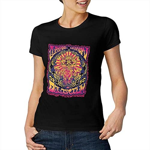 Claypool Lennon Delirium Women's Tops Short Sleeve T-Shirts Black Stylish Tees