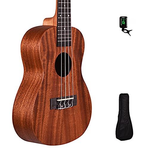 mahogany ukuleles Kadence Concert Ukulele - Mahogany Wooden Ukulele for Beginners (Acoustic) - Ukulele for Adults, Kids, Players or Professionals - Concert Ukulele with Tuner and Bag