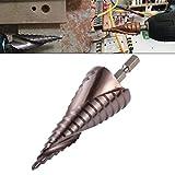 HOHXEN Brocas Escalonadas de Flauta espiral Cobalto HSS M35 de 4-32 mm,Vástago Hexagonal ...
