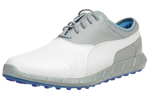 PUMA Ignite Golf Spikless Herren Golfschuhe Golf Leder weiß 188679 07, Schuhgröße:41 EU