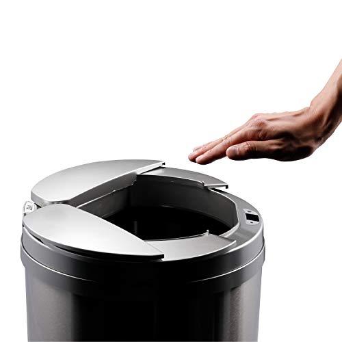 ひらけ、ゴミ箱ZitA ジータ ゴミ箱 おしゃれ 45リットル ダストボックス 自動 自動ゴミ箱 センサー (シルバー)