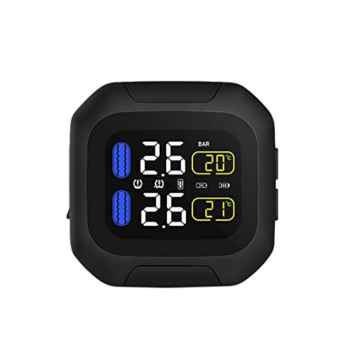 Beada Sistema de Monitoreo de PresióN de NeumáTicos M3 Impermeable Tpms InaláMbrico Alarma de Pantalla LCD de NeumáTicos de Moto Sensor TH/Wi Interno o Externo