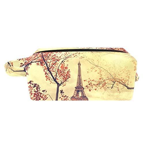 Neceser bolsa de cosméticos bolsas de viaje bolso de negocios impermeable Torre Eiffel 7.3 x 3 x 5.1 pulgadas