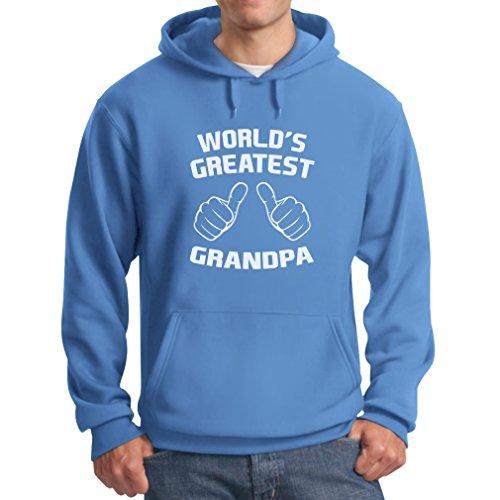 Tstars Men's - World's Greatest Grandpa Hoodie Medium California Blue